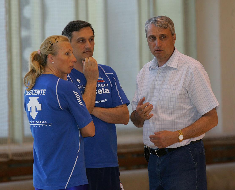con Patkin e Irina in nazionale Russa